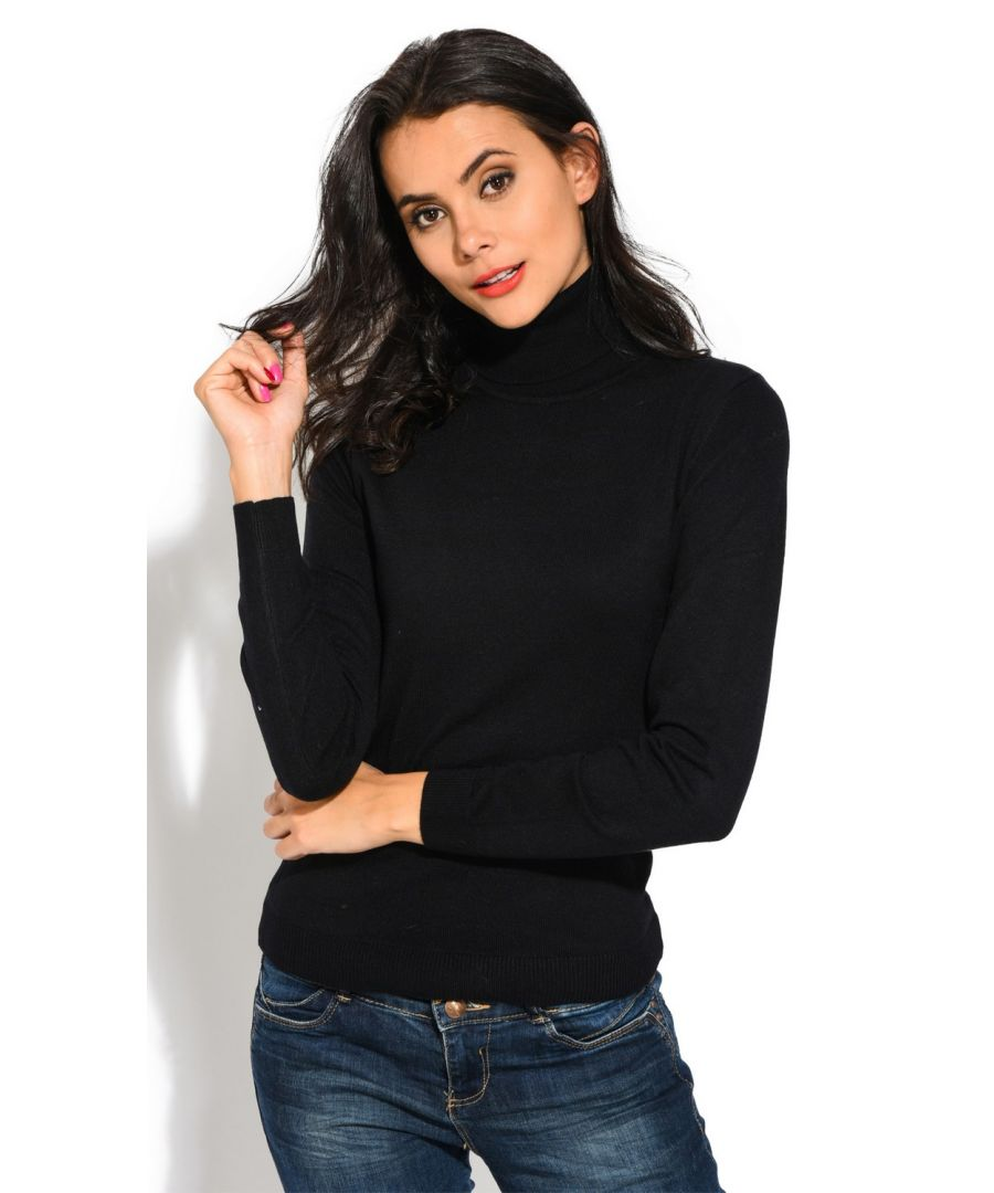 Image for William De Faye Rollneck Long Sleeve Sweater in Black