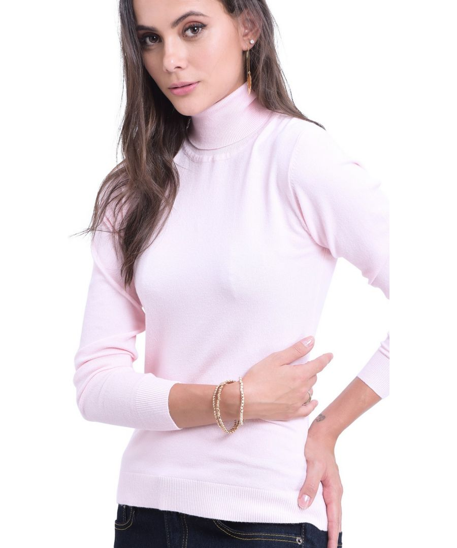 Image for William De Faye Rollneck Long Sleeve Sweater in Pink