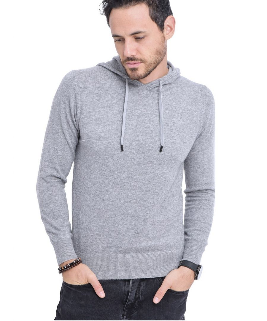Image for William De Faye Hooded Sweater with Cords in Light Grey