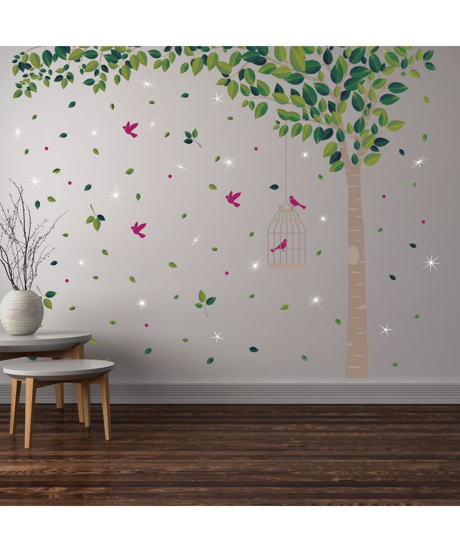 Image for Wall Sticker Decal Green Tree with Swarovski Crystals