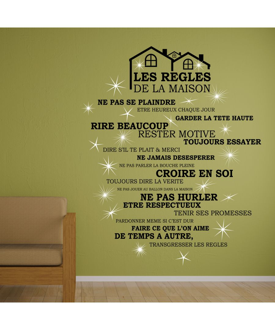 Image for Walplus French House Rule Wall Sticker Art with Swarovski Crystals