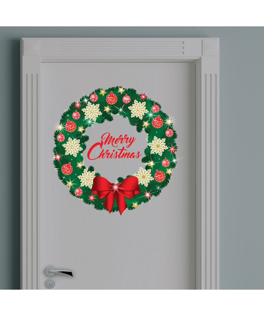 Image for Walplus Christmas Garland Wall Sticker with Swarovski Crystals