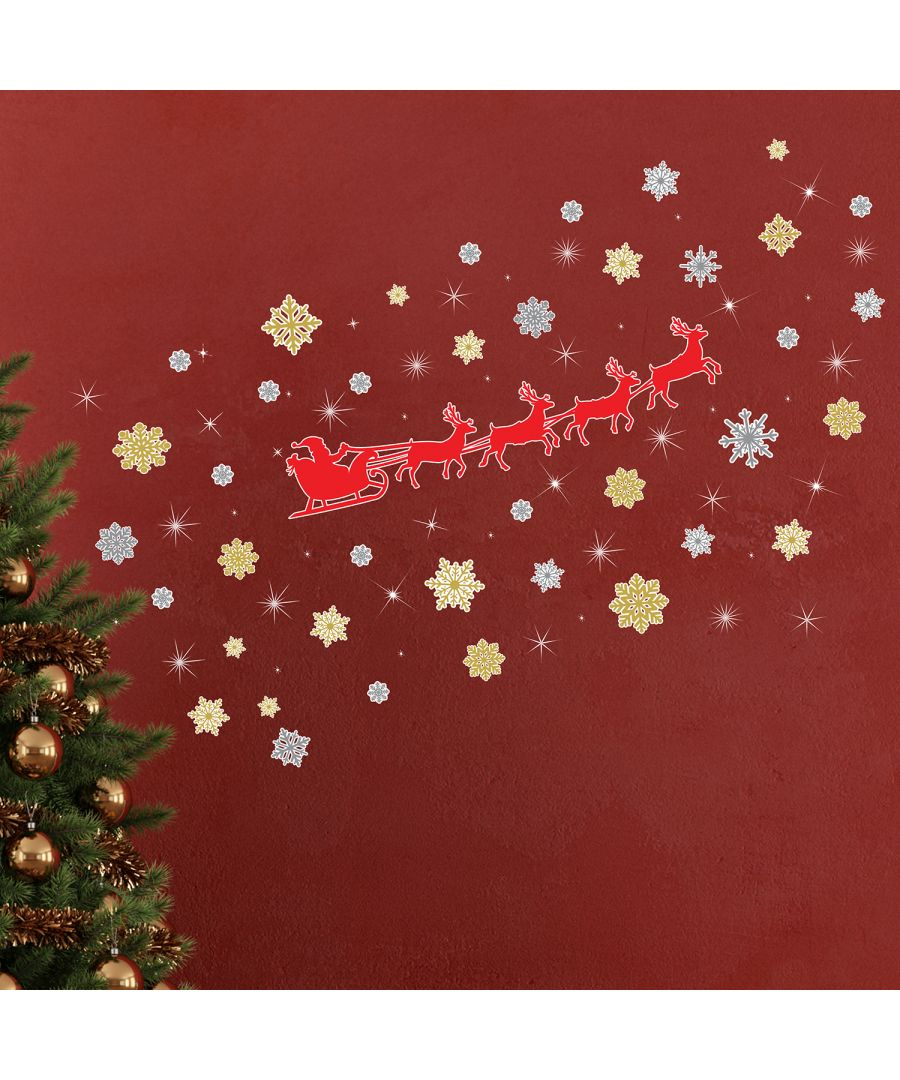 Image for Walplus Christmas Reindeer Snowflakes with Swarovski Crystaks