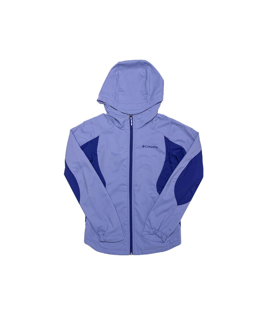 Image for Girl's Columbia Junior SplashFlashII Hooded Softshell Jacket in Purple