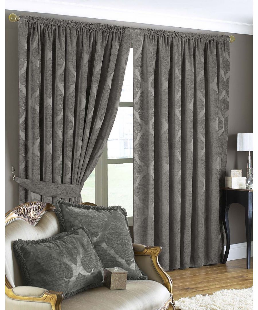 Image for Winchester Diamond Jacquard Eyelet Curtains in Mocha