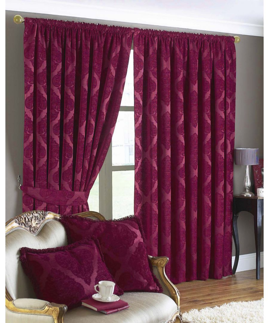 Image for Winchester Diamond Jacquard Pencil Pleat Curtains in Mocha