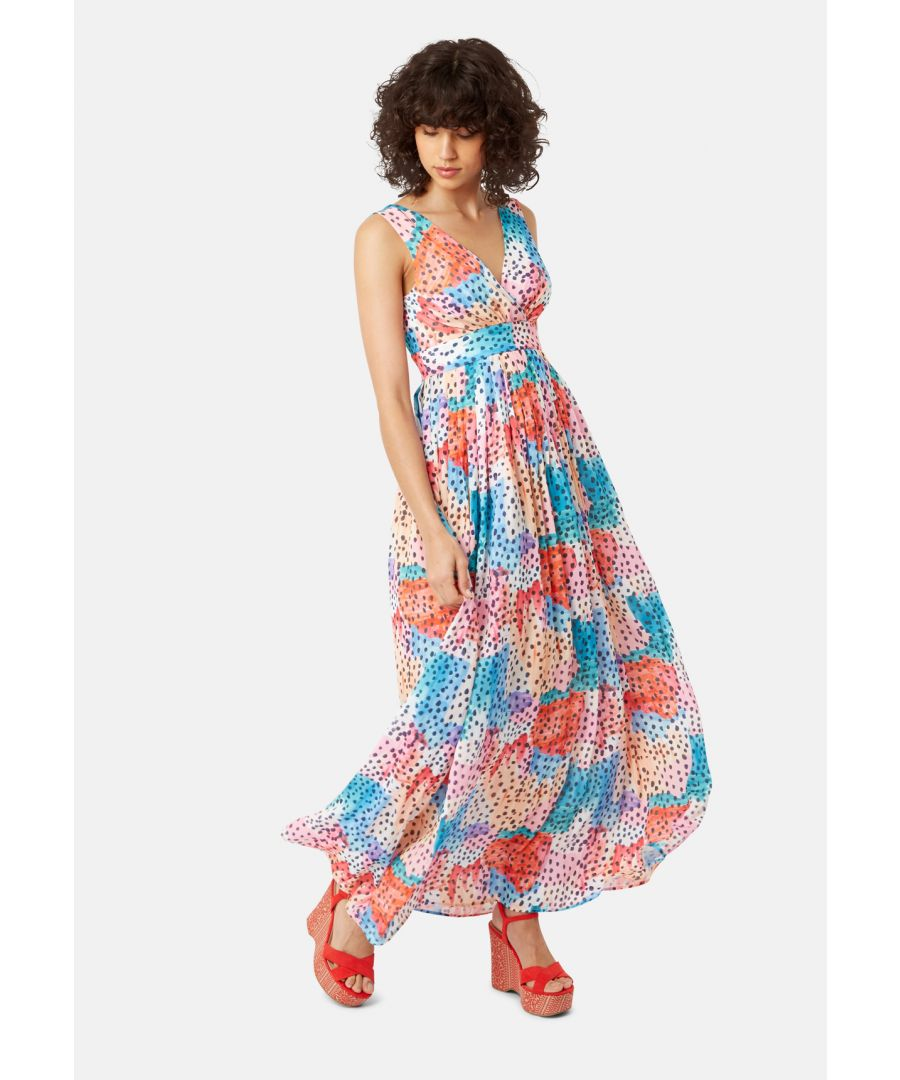 Image for Falls Watercolour Print Maxi Dress in Multicoloured