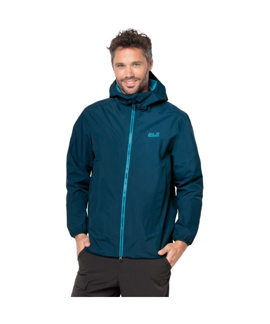 Image for Jack Wolfskin Mens Colourburst Waterproof Texapore Lightweight Jacket