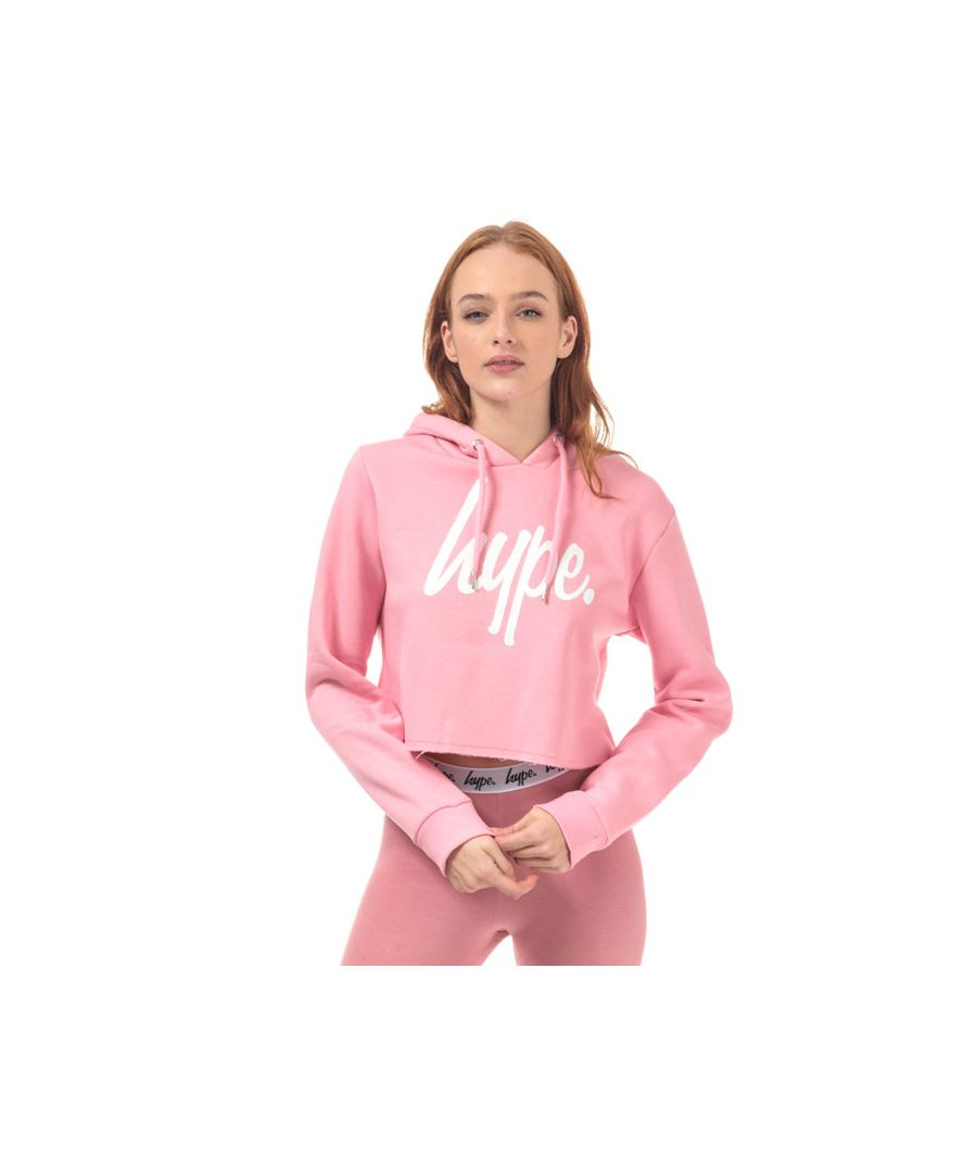Image for Women's Hype Script Crop Hoody in Pink