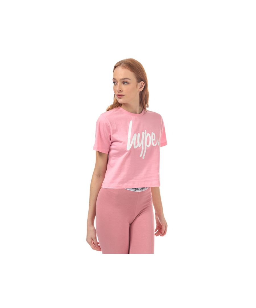Image for Women's Hype Script Crop T-Shirt in Pink