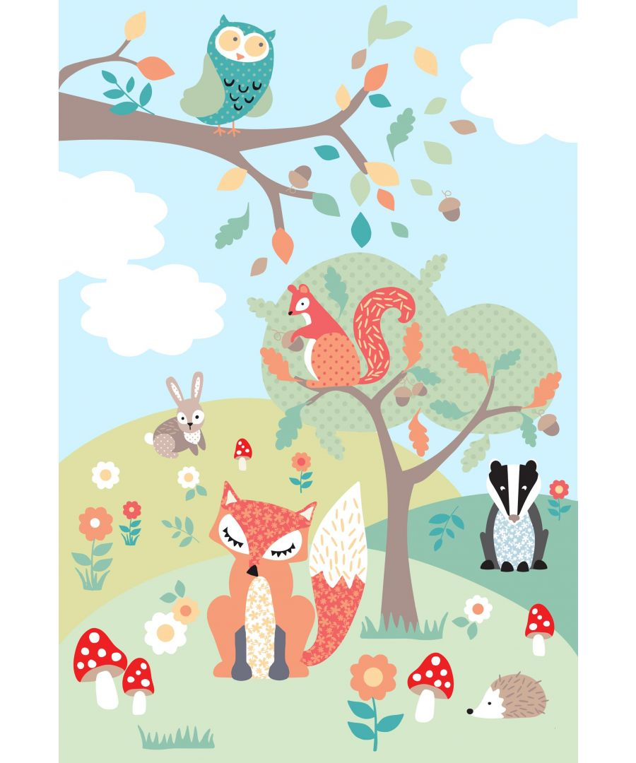 Image for Woodland Wall Mural Multi