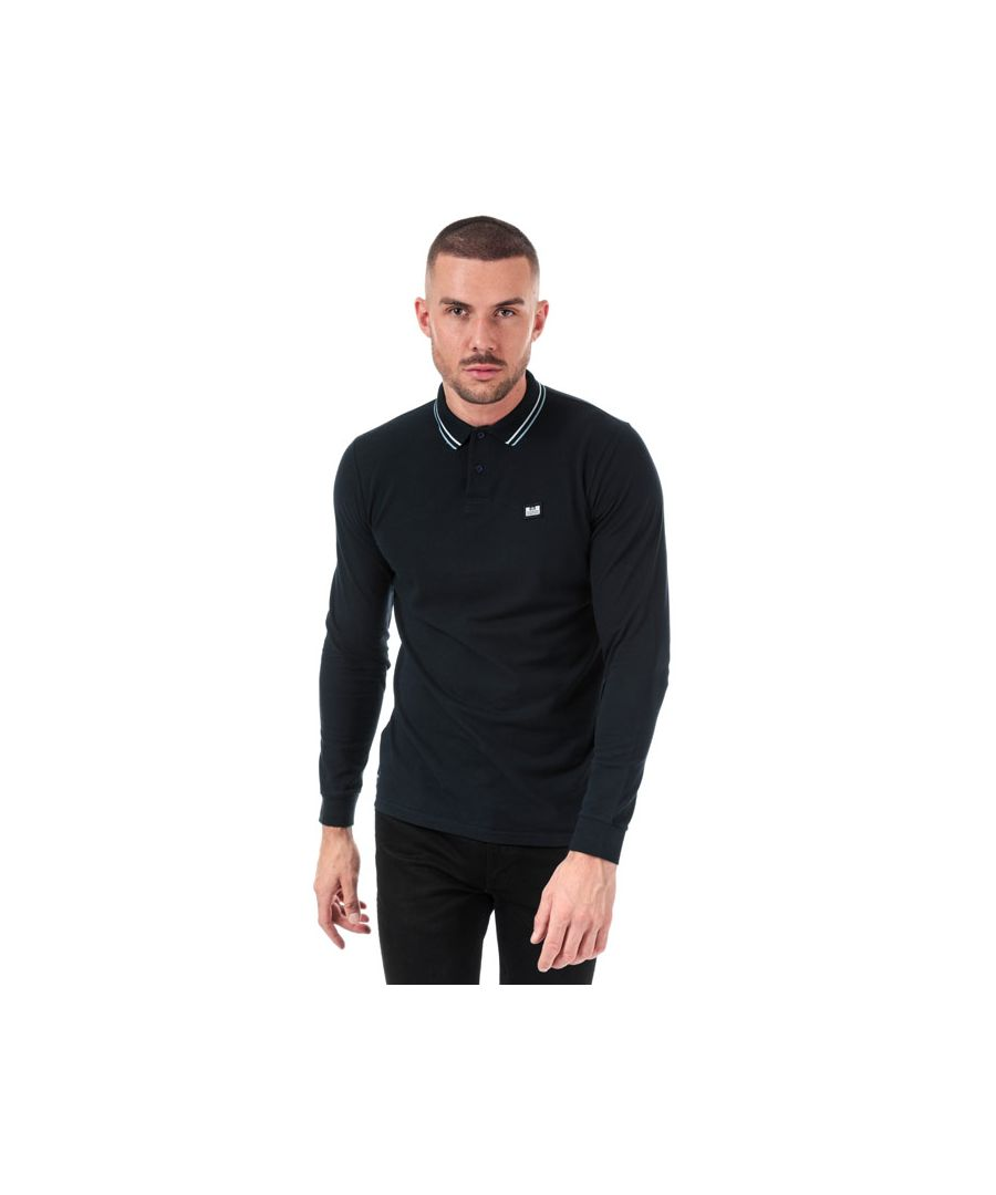 Image for Men's Weekend Offender Drills Long Sleeve Polo Shirt in Navy