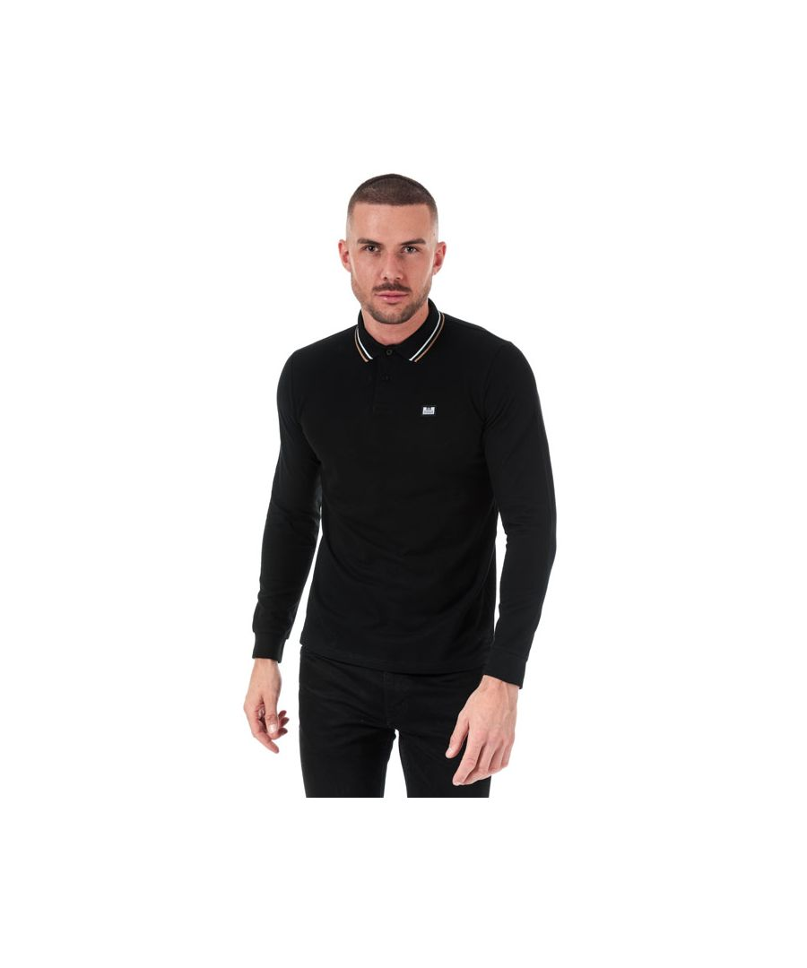 Image for Men's Weekend Offender Drills Long Sleeve Polo Shirt in Black
