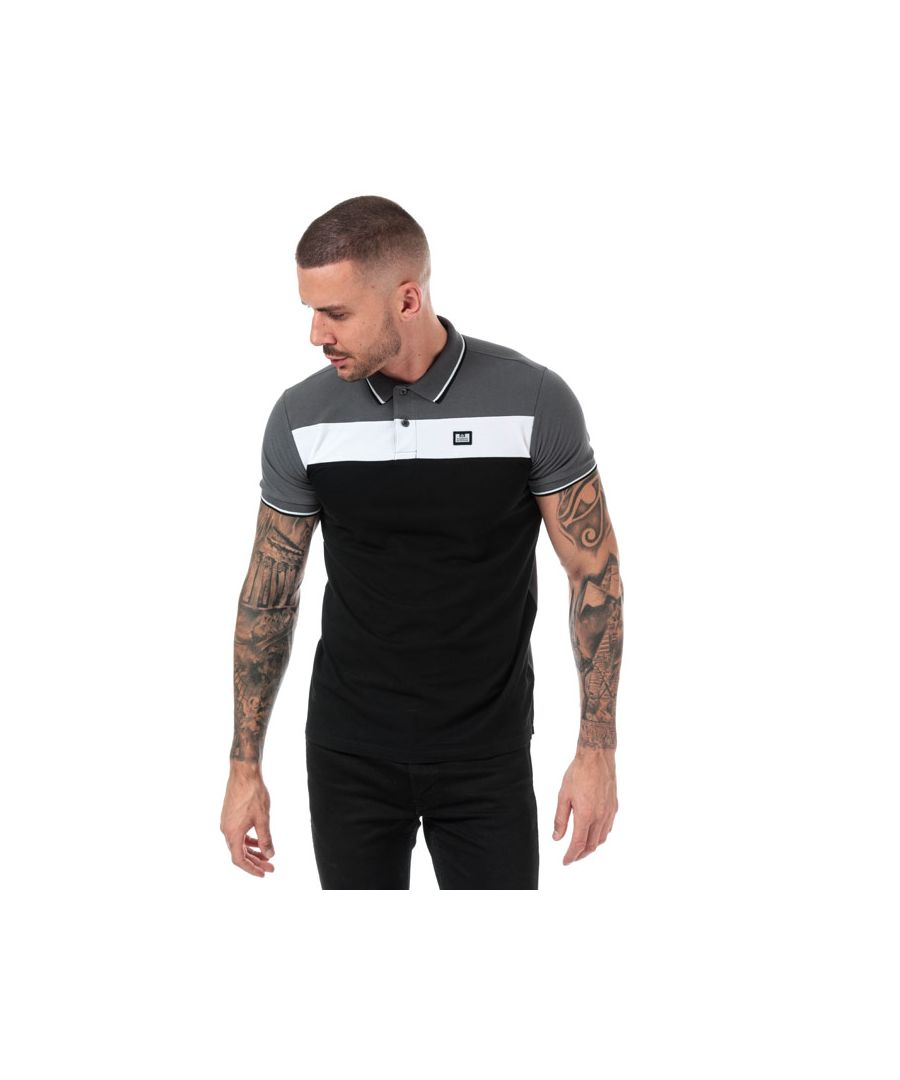 Image for Men's Weekend Offender Empire Panel Polo Shirt in Black