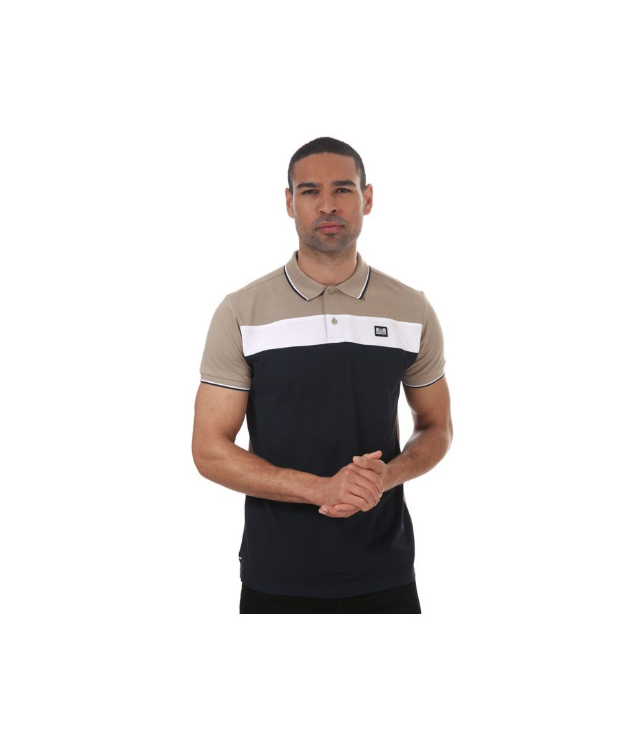 Image for Men's Weekend Offender Empire Panel Polo Shirt in Stone