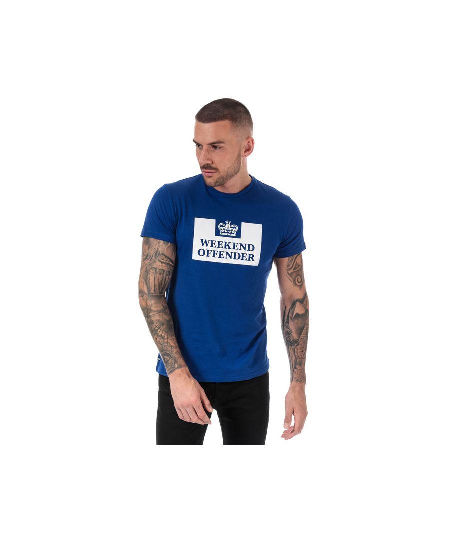 Image for Men's Weekend Offender Grimaldi T-Shirt in Blue