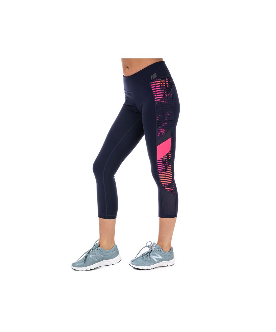 Image for Women's New Balance Transform Pocket Crop Tights in Navy