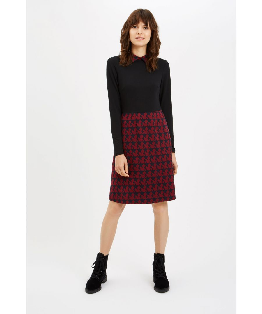 Image for Top N' Tail Mini Long Sleeve Dress in Wine