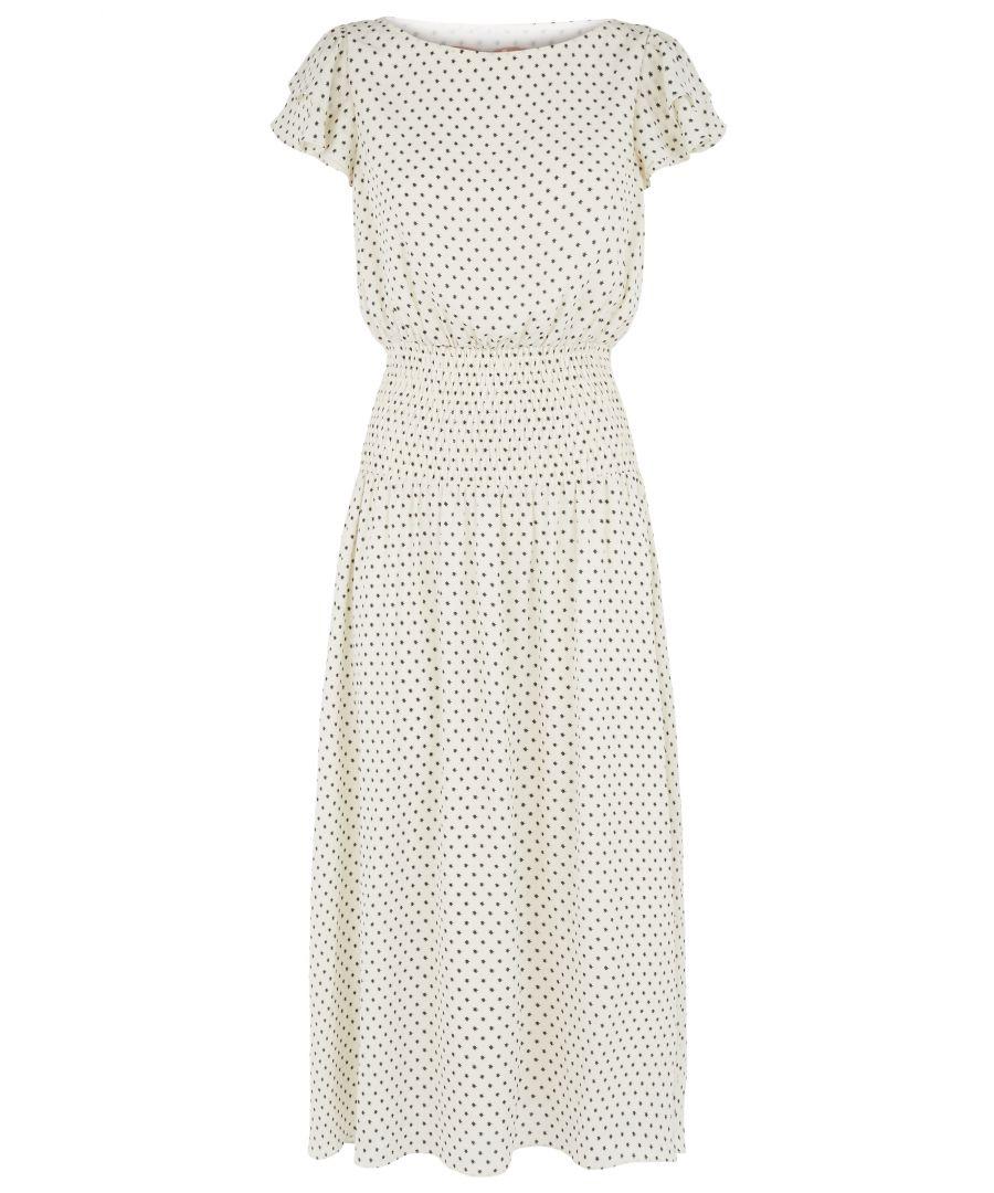 Image for Star Print Whisper Midi Dress in White