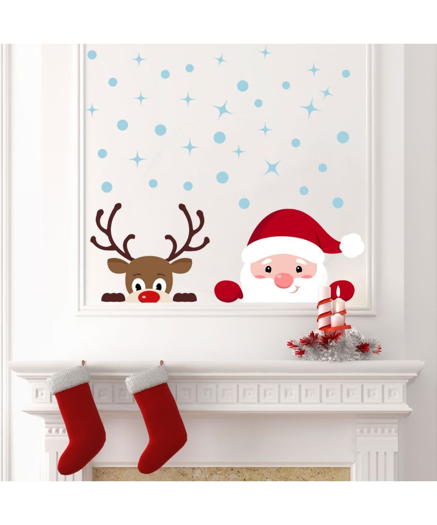 Image for WS3329 - Peeking Santa & Rudolph