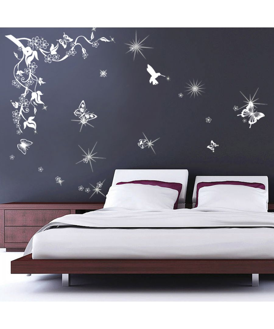 Image for Butterflies Vine Swarovski Wall Sticker