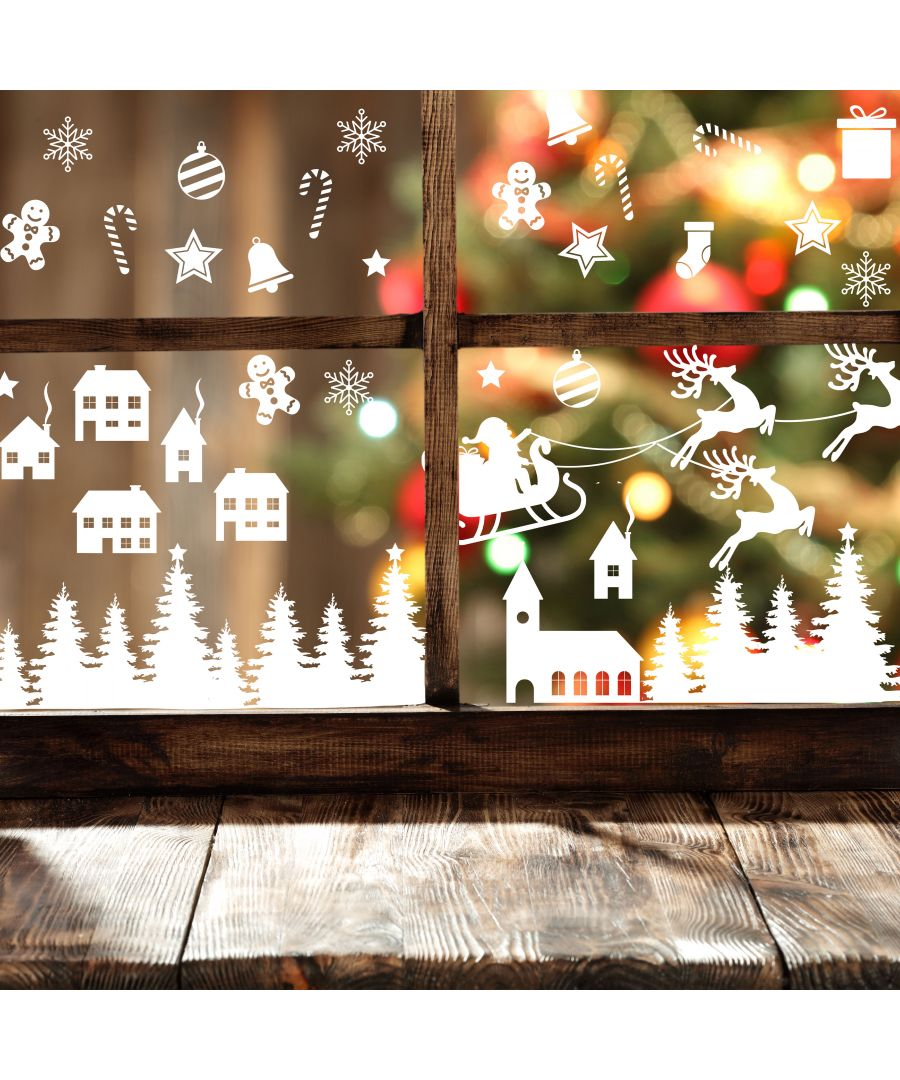 Image for WS5303 - Cute White Christmas Elements Eco-Friendly Set for Windows