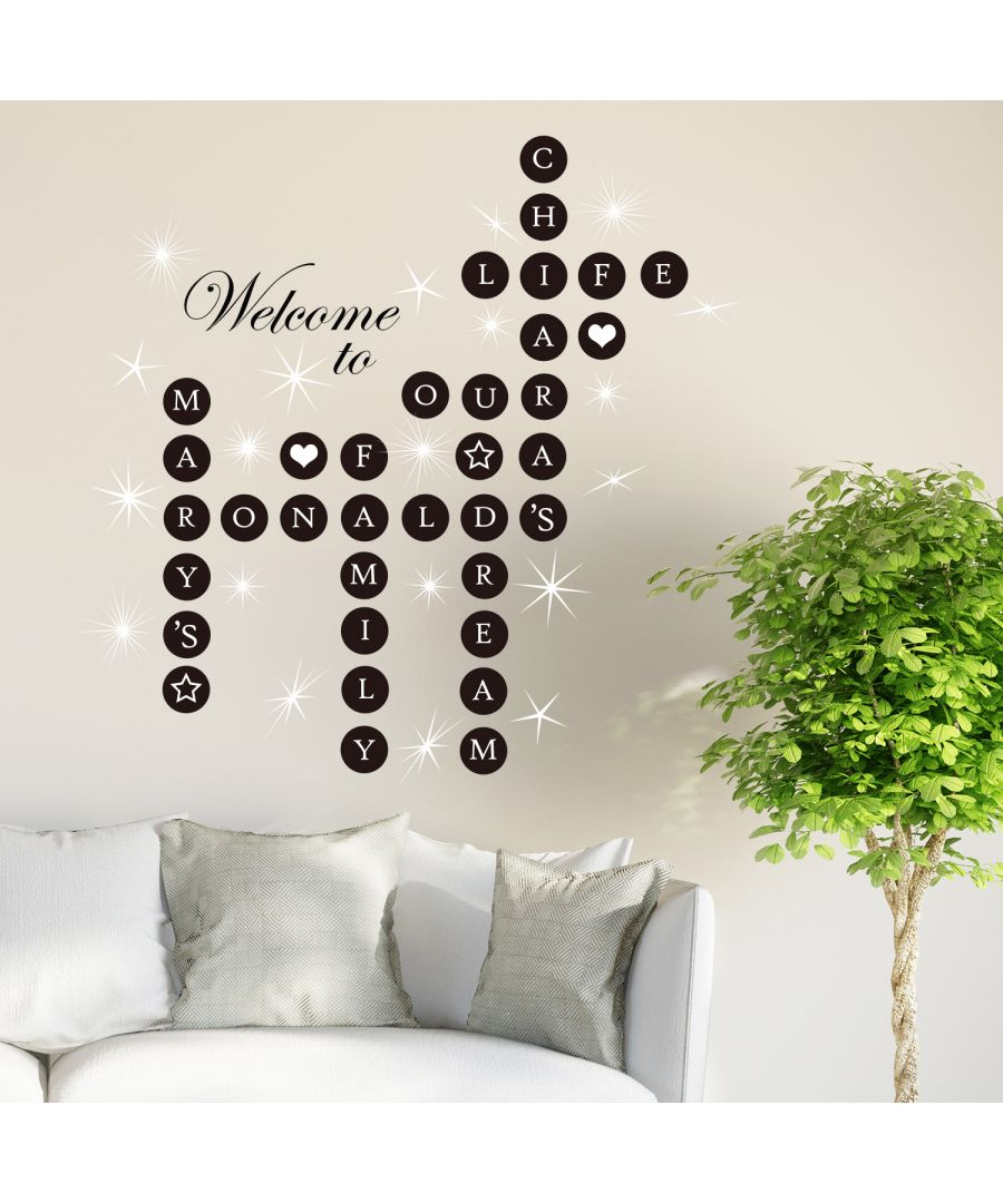Image for Walplus Welcome Home Puzzle Wall Sticker Wall Decal Decoration with Swarovski Crystals
