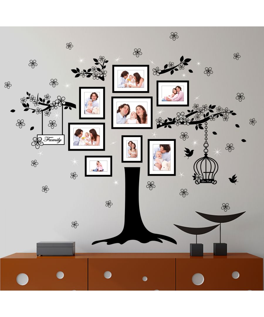 Image for Walplus Wall Sticker Decal Huge Family Tree with Swarovski Crystals
