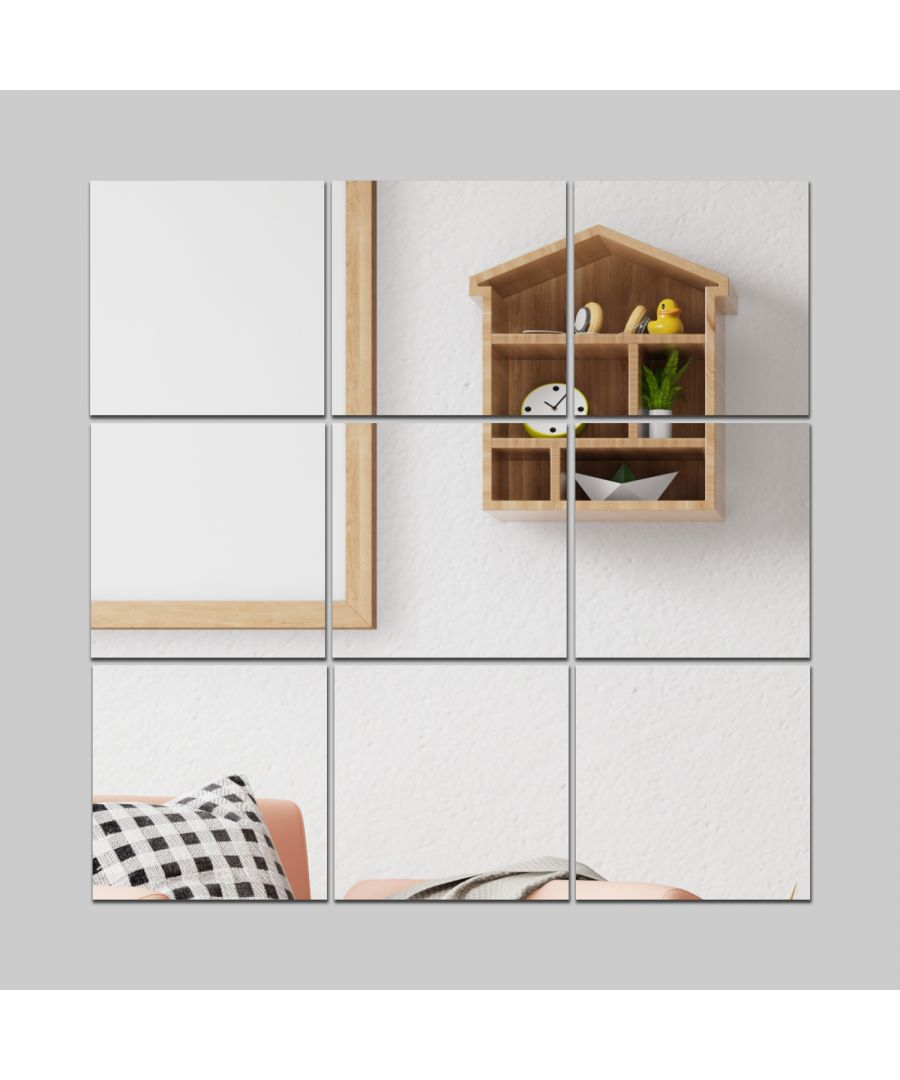 Image for WSM1009 - Square Mirror Wall Art 9pcs