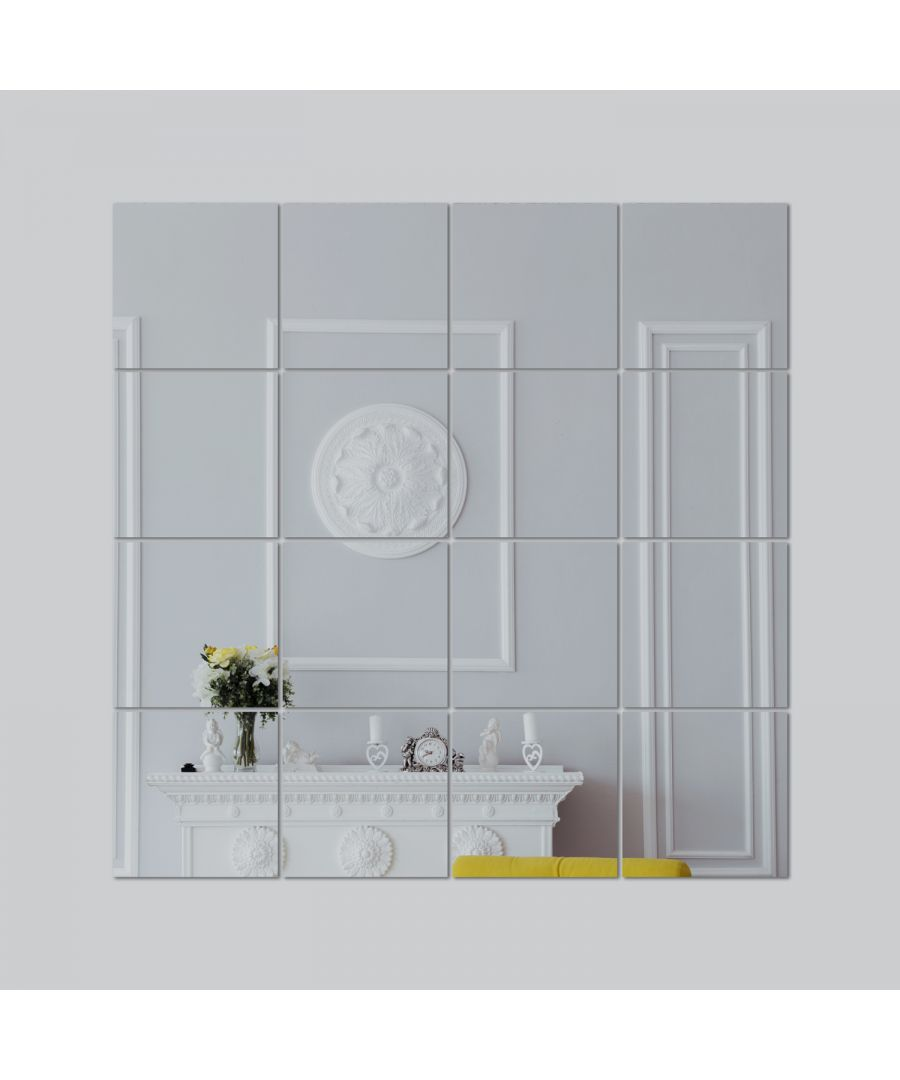 Image for WSM1016 - Square Mirror Wall Art 16pcs