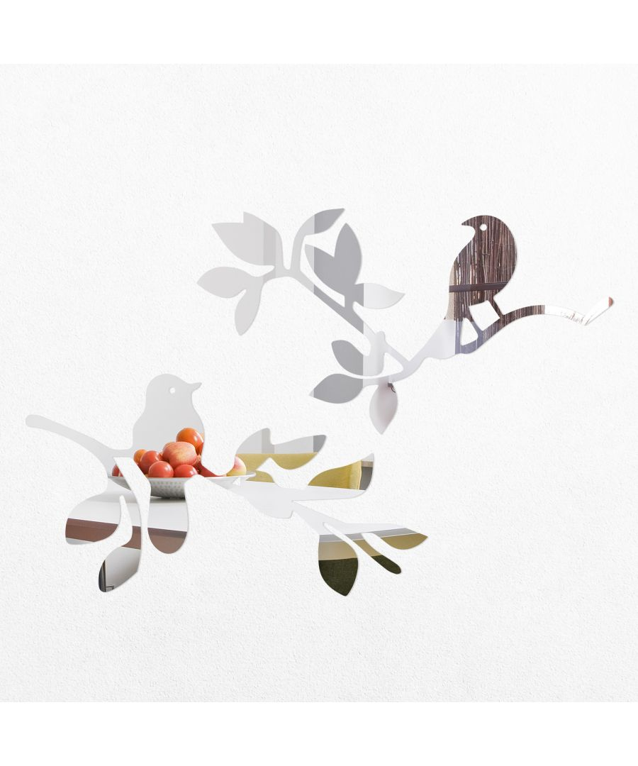 Image for WSM2014 - Birds Standing on the Tree Branch Mirror Wall Art