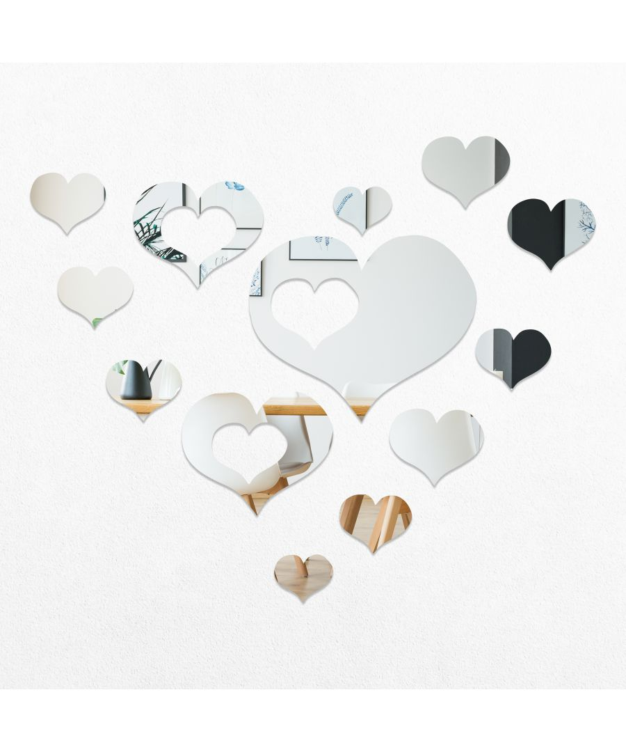Image for WSM2034 - DIY Crystal Romantic Hearts Mirror Wall Art