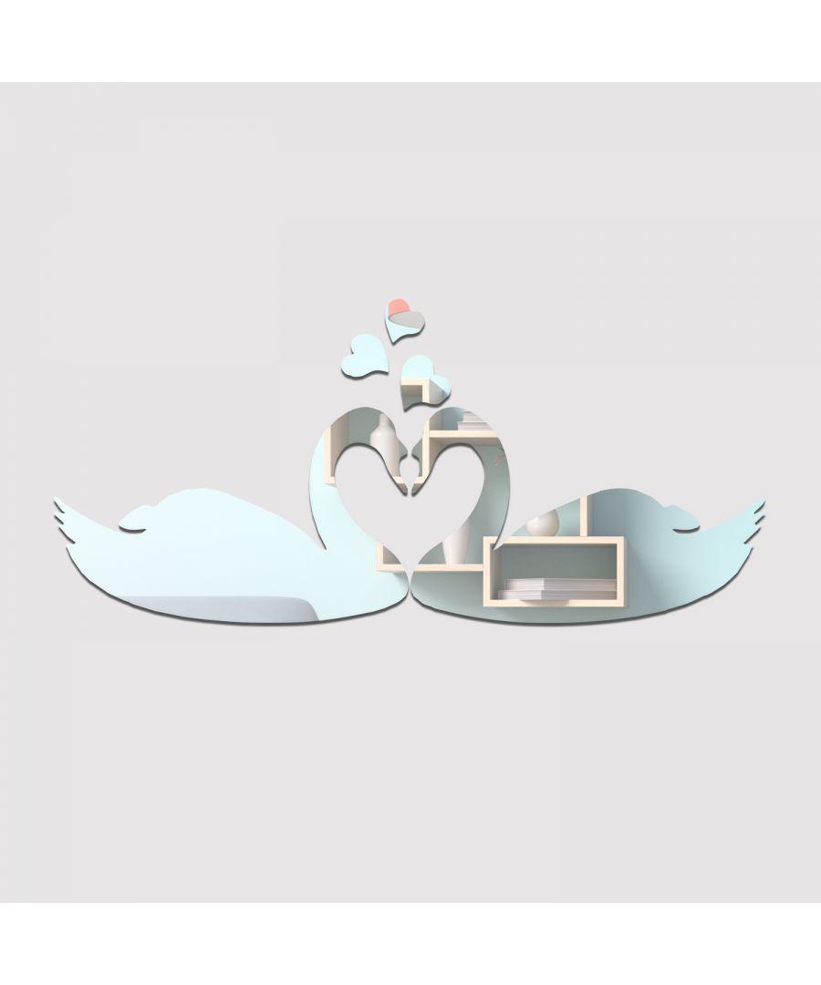 Image for WSM2035 - DIY Crystal Romantic Swan Kiss Mirror Wall Art