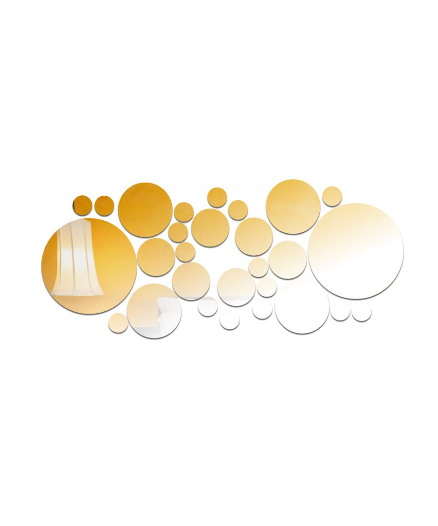 Image for WSM2043 - Silver Round Big Mirror Wall Art