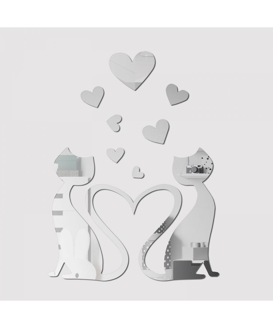 Image for WSM2046 - Crystal Lovely Cat Mirror Wall Art