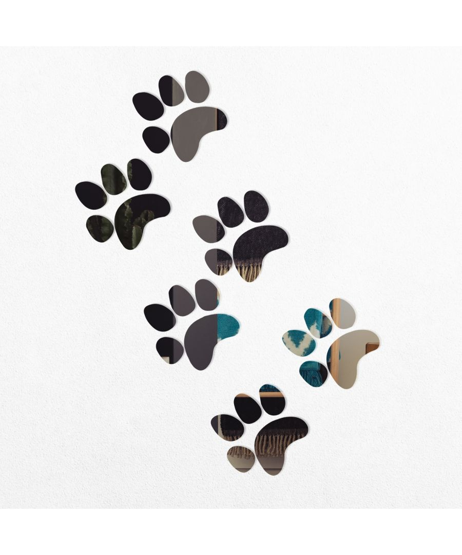 Image for WSM2051 - Crystal Cat Paws Mirror Wall Art