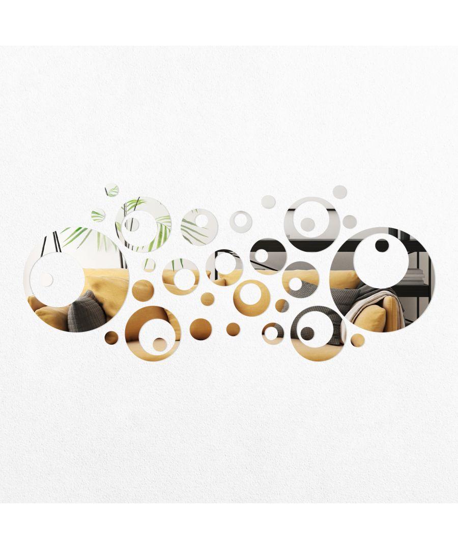 Image for WSM2054 - 33pcs Circle Rings Mirror Wall Art
