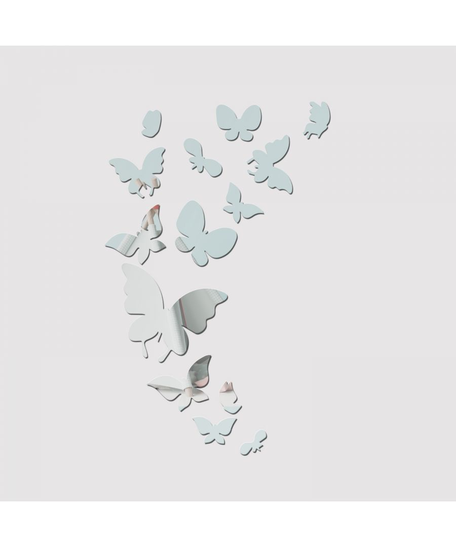 Image for WSM2057 - 14 Mirror Butterflies Wall Art