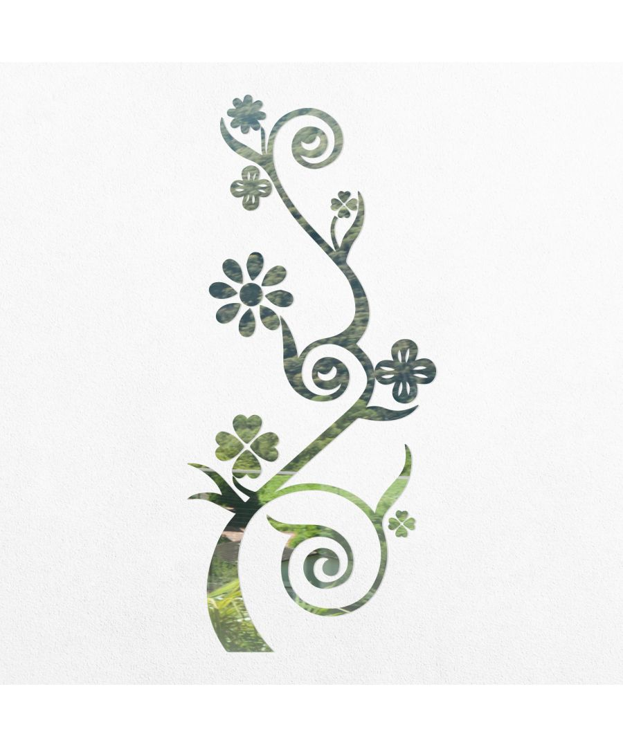 Image for WSM2058 - Flower Branch Mirror Wall Art