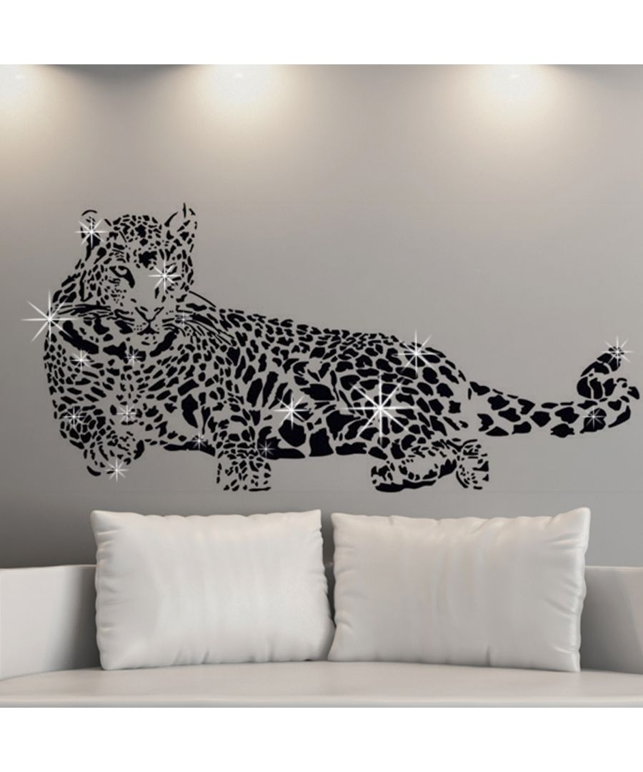 Image for Wall Sticker Decal Leopard with Swarovski Crystals