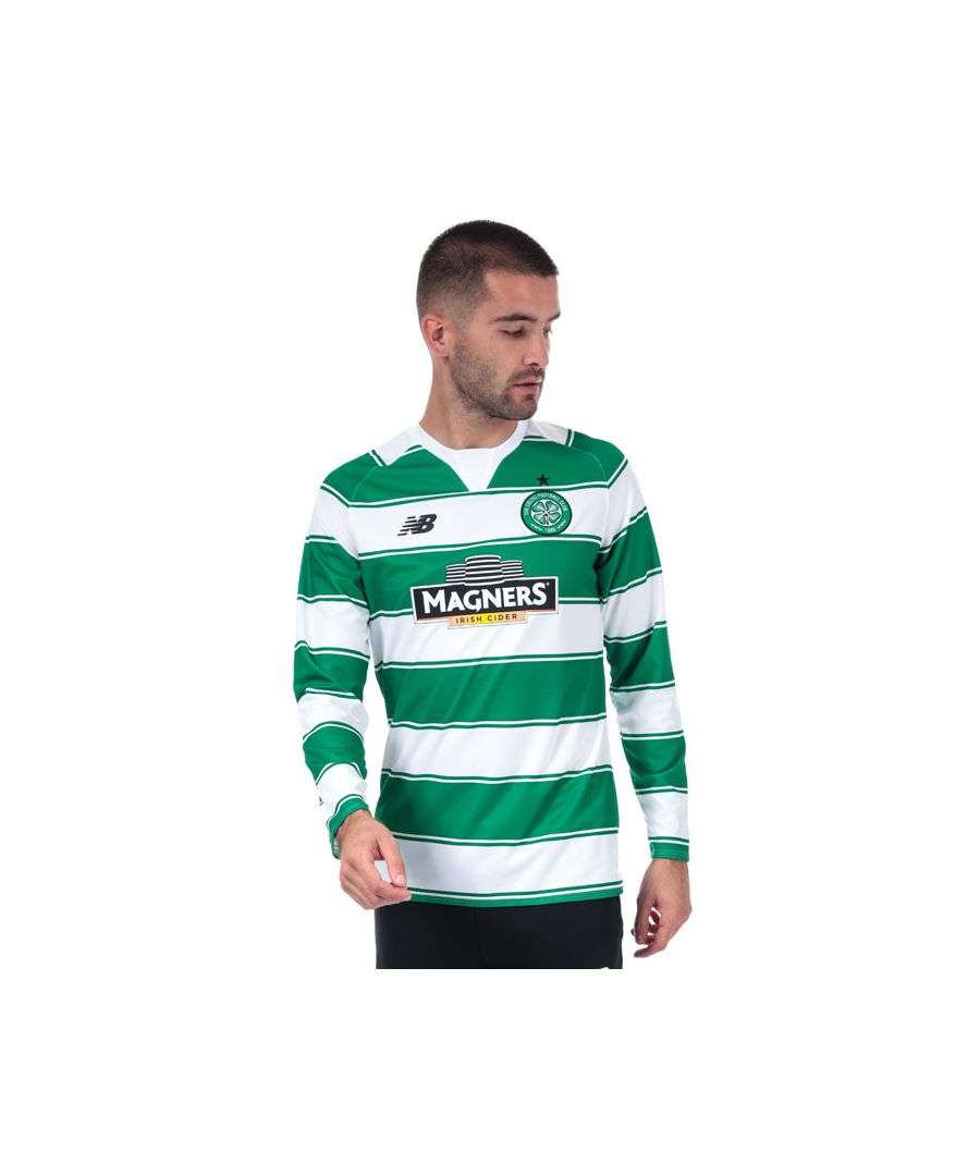 Image for Men's New Balance Celtic FC Home L/S Jersey 2015/16. in Green White