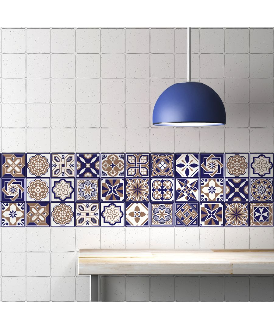 Image for WT1007 - Royal Tiles Wall Stickers - 10 cm x 10 cm - 24 pcs.