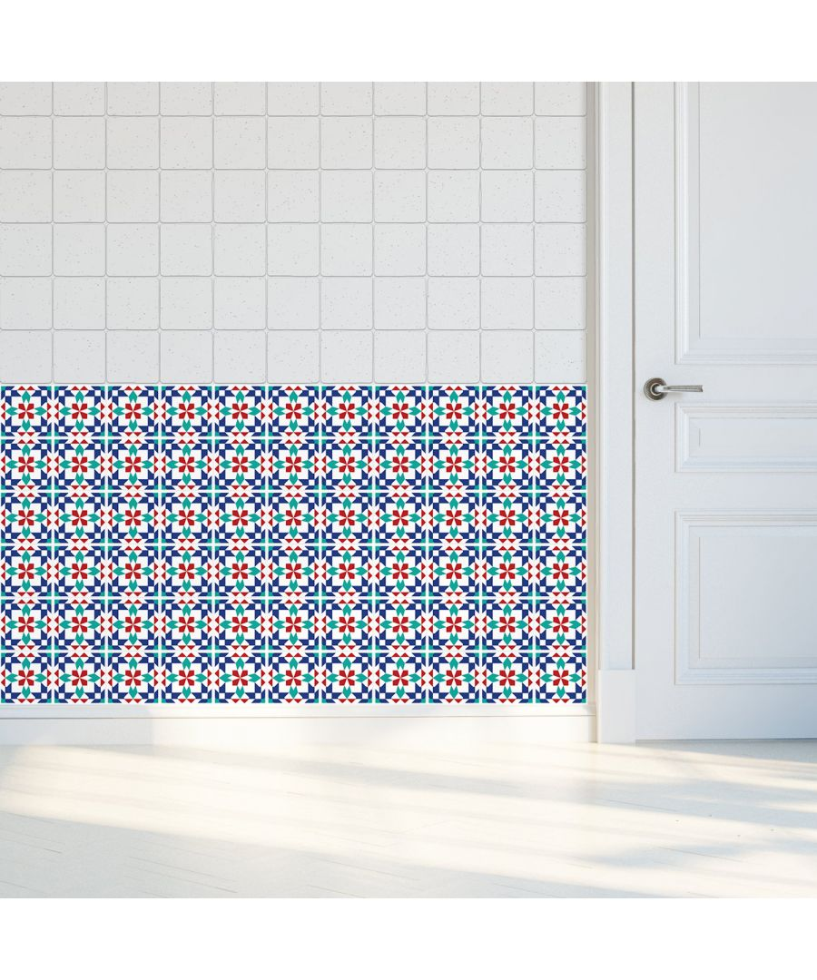 Image for WT1008 - Marrakech Tiles Wall Stickers - 10 cm x 10 cm - 24 pcs.
