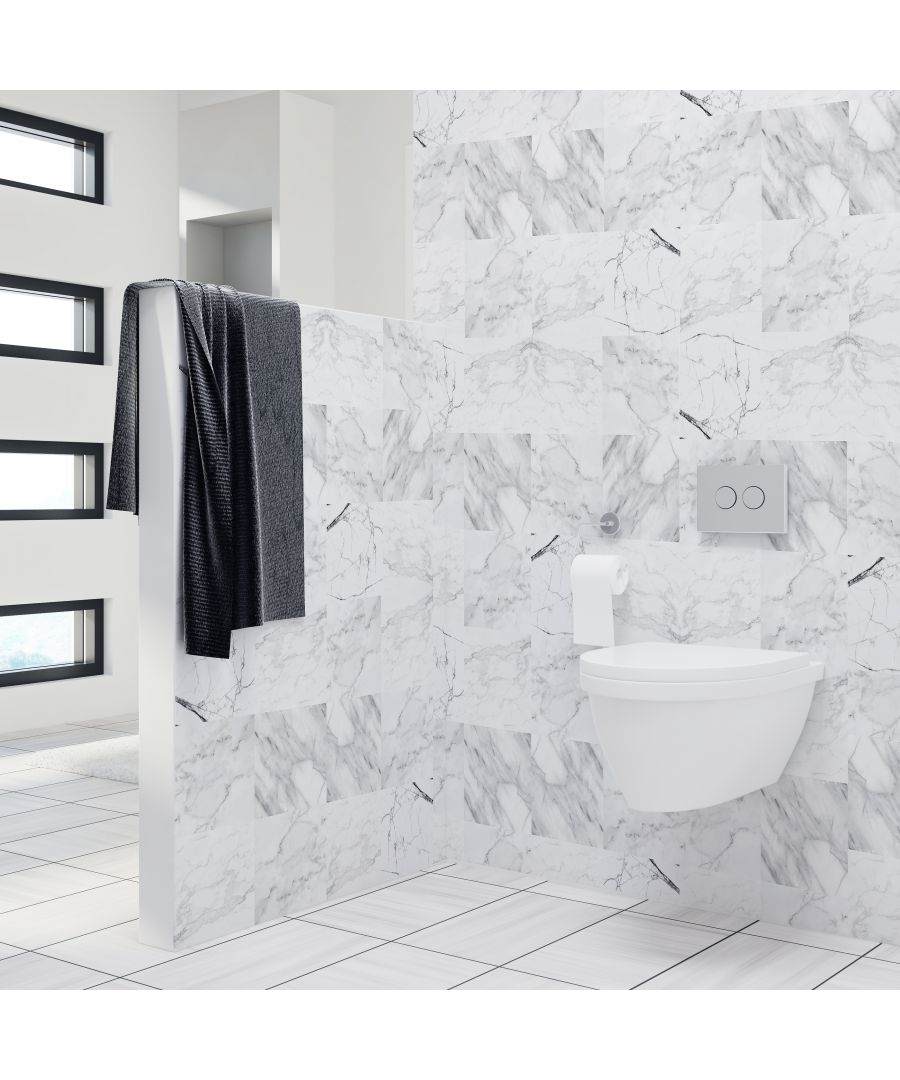 Image for WT1023 Marble Tiles Wall Stickers Mix - 10 cm x 10 cm - 24 pcs.