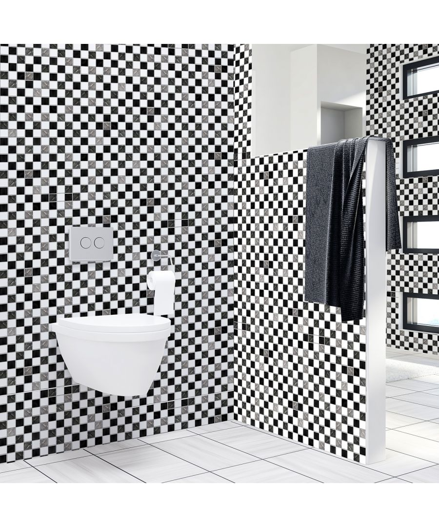 Image for WT1030 - Marble Mosaic Tiles Wall Stickers - 10 cm x 10 cm - 24 pcs.