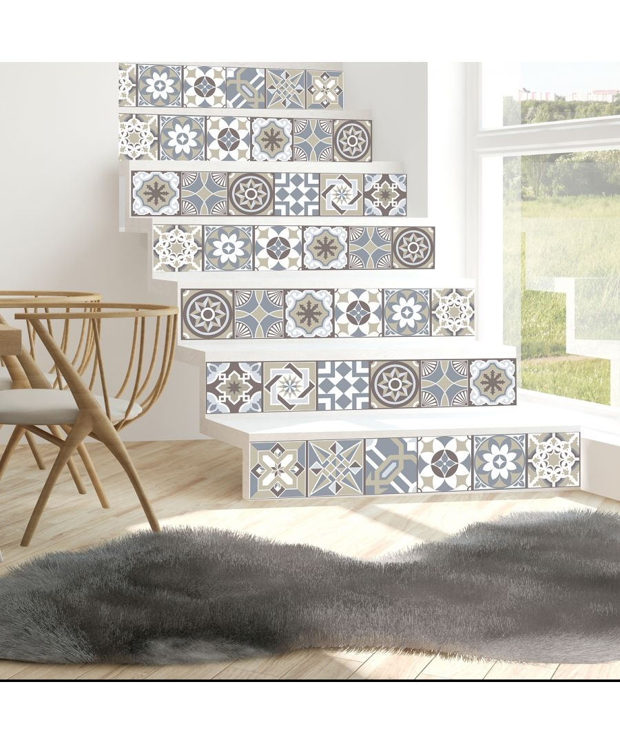 Image for WT1502 - Limestone Spanish Tiles Wall Stickers - 15 cm x 15 cm - 24 pcs.