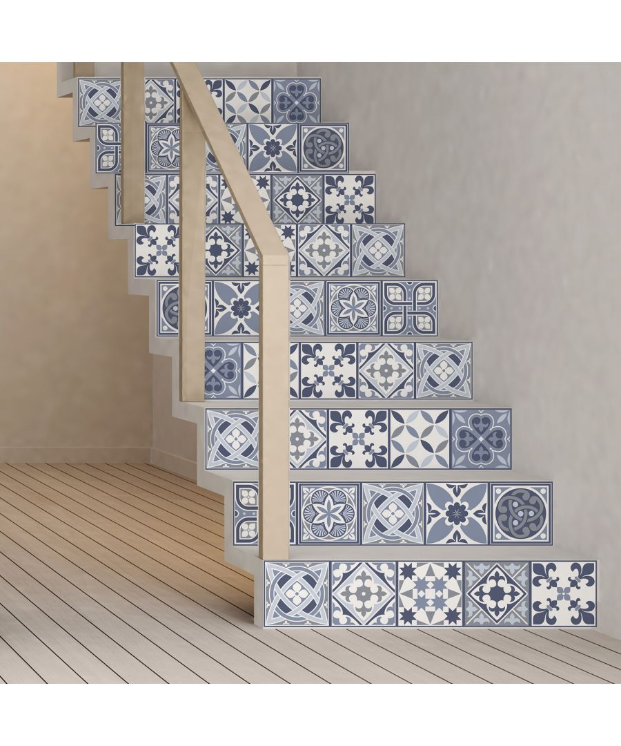 Image for WT1503 - Lisbon Blue Tiles Wall Stickers - 15 cm x 15 cm - 24 pcs.