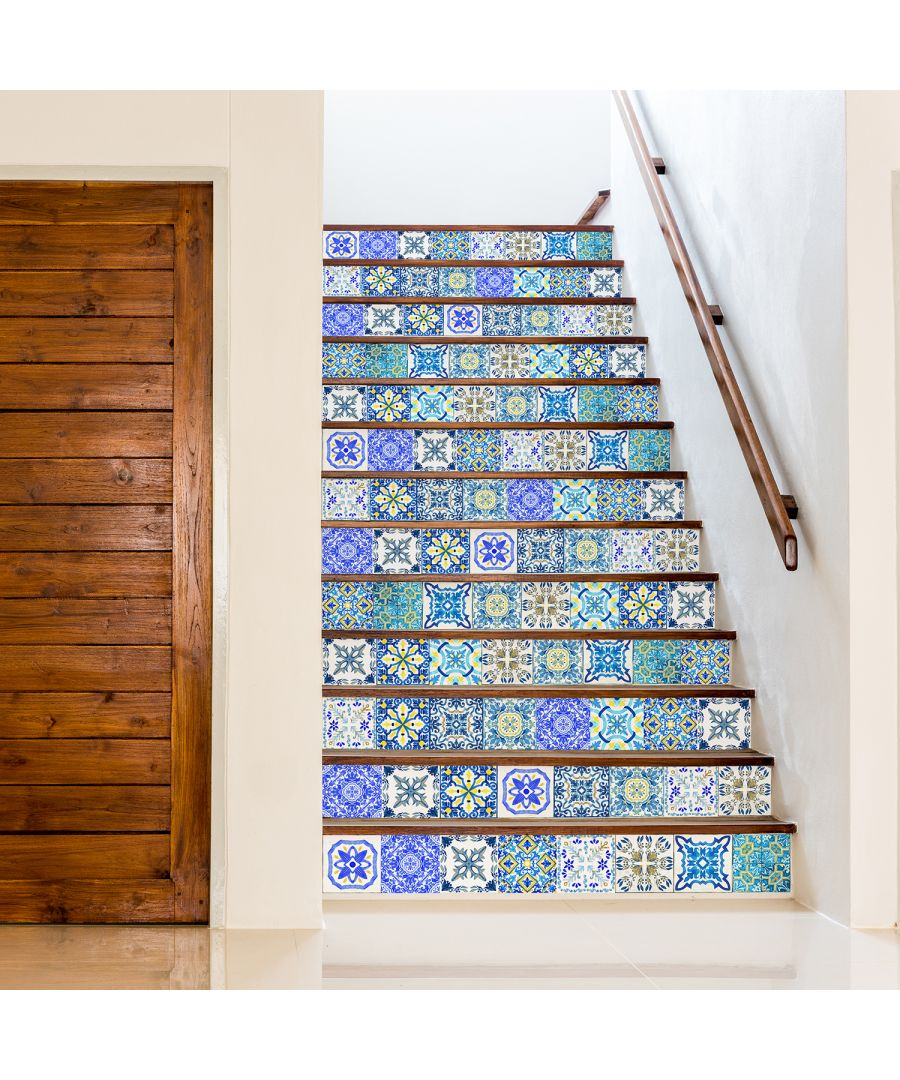 Image for Walplus Tile Sticker Sky Classic Blue Mosaic Wall Sticker Decal (Size: 15cm x 15cm @ 24pcs)