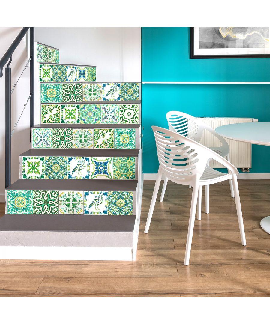 Image for Walplus Tile Sticker Turkish Green Mosaic Wall Sticker Decal (Size: 15cm x 15cm @ 24pcs)