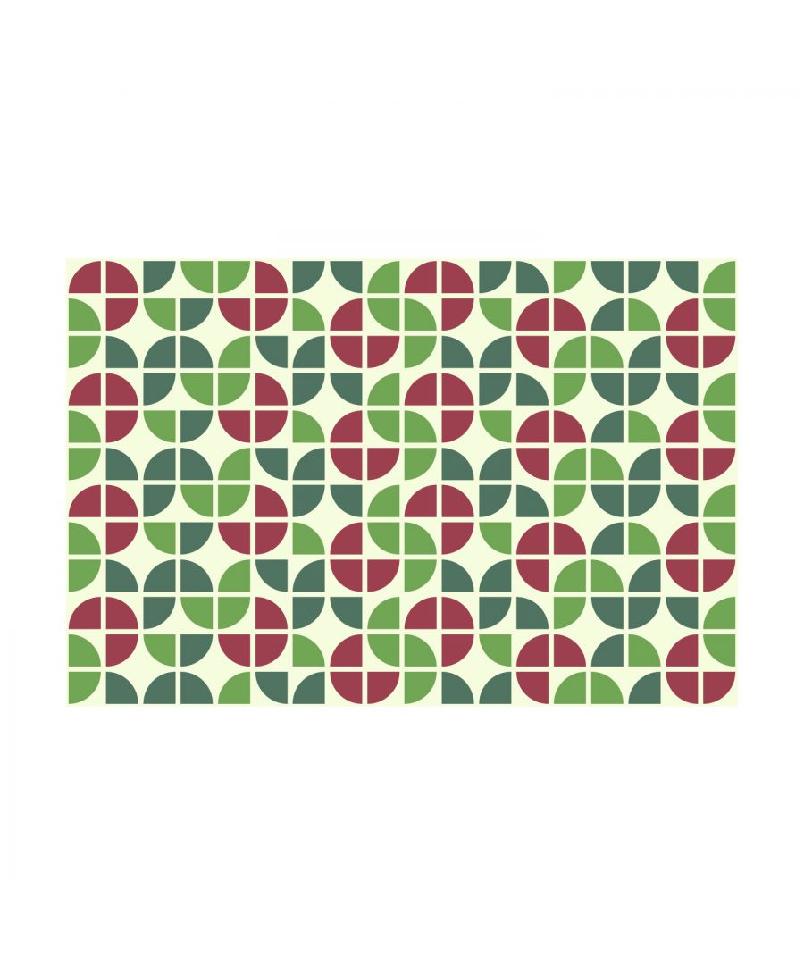 Image for Tropical Green and Red Clay Modern Azulejo Wall Tile Sticker Set - 15 x 15 cm (6 x 6 in) - 24 pcs, DIY Art, Home Decorations, Decals, Kitchen Decor, Bathroom Ideas